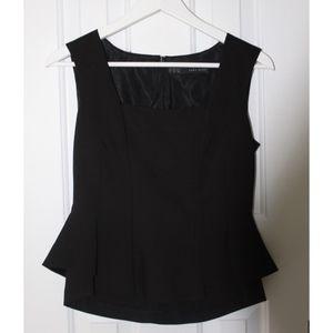 Zara Basic Black Structured Top